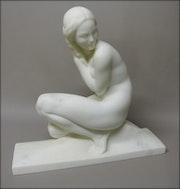 Sculpture signée J. Ortis. Marc Menzoyan Antiquités