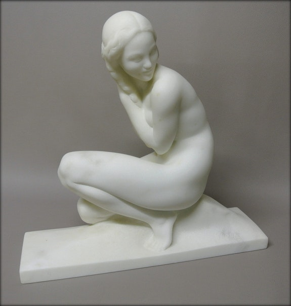 Sculpture signée J. Ortis. Jean Ortis Marc Menzoyan Antiquités