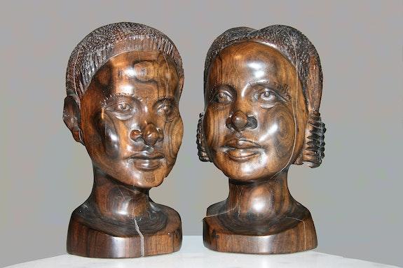 Couple en bois d'ébène. Didier Collignon Didier Collignon