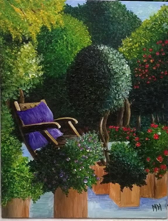 Un été au jardin / acrylique sur toile / vernie. Mariraff