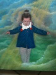 Kim dans les nuages.