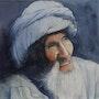 Le turban blau. Claude Menge