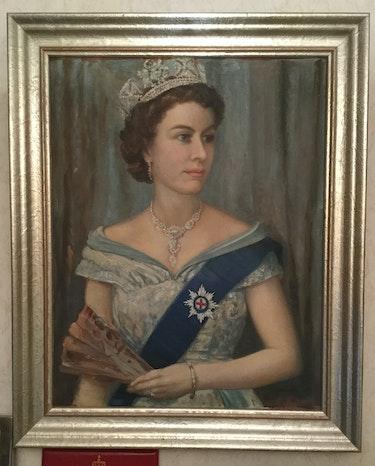 Gemälde Queen Elizabeth II. , Abschiedsgeschenk an dt. Botschafter!. Thomas Kern