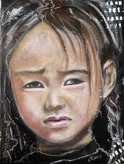 Hoai (qui se souvient) portrait d'une petite fille asiatique.