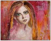 Eugenie ni trop douce ni trop amère - Portrait d'une jeune femme douce rouge.