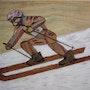 Skieur de compétition. Michel Pernin