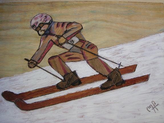 Skieur de compétition. M P Michel Pernin