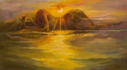 Sunset on the sea. Art_Merdan