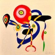 Composition ao Huile sur toile _Dimension 60 cm 60 cm 2015.