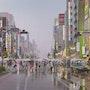 L'homme à la valise dans la mousson de Tokyo. Thierry Duval
