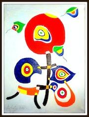 Composition bb huile sur toile 45cmx 55cm 2014.