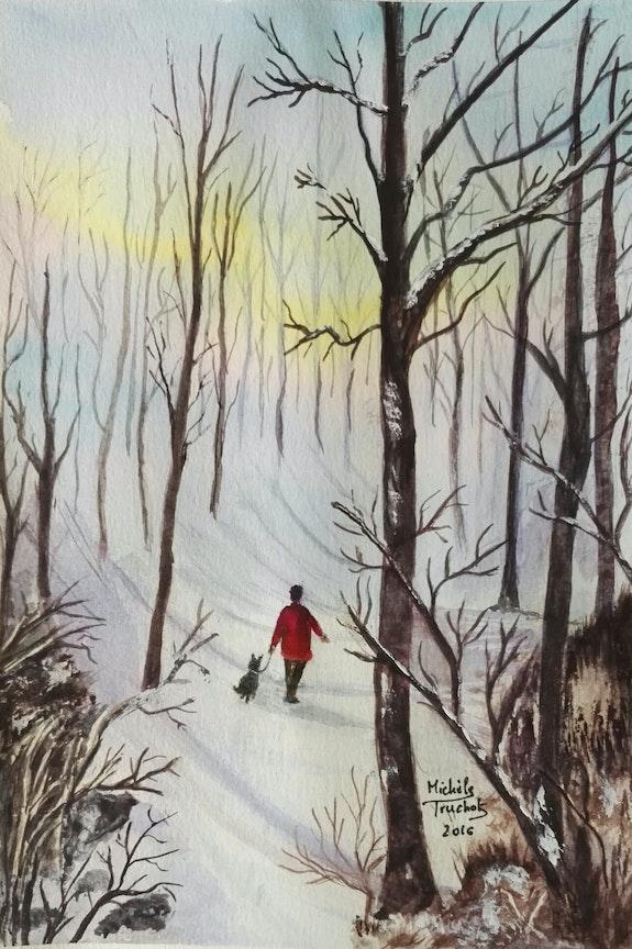Promenade en forêt. Michèle Truchot Mimi