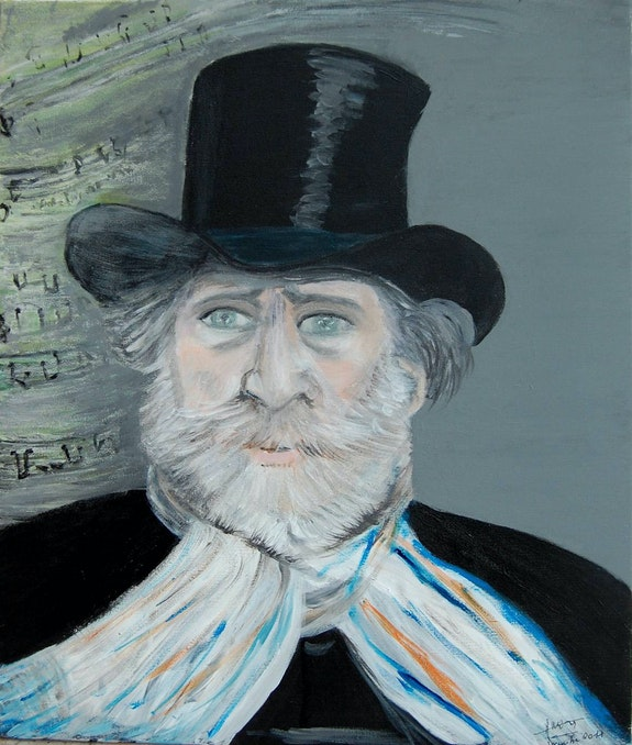 «Portrait de Guiseppe Verdi». Amira Amira (Nom d'artiste)