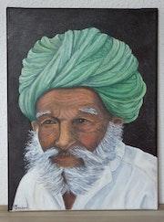 L'hindou au turban vert.