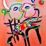 French Kiss 2 huile sur toile dimension 100 cm X 120 cm 2013. Aachati