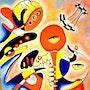 Composition am; Huile sur toile dimension 74 cm X 94 cm 2015. Aachati