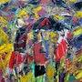 Parapluies sous l'orage. Jacques Donneaud