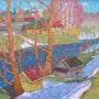 Der Frühling kommt, Öl auf Hartfaser, 1982. Axel Zwiener