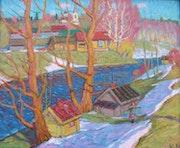 Der Frühling kommt, Öl auf Hartfaser, 1982.
