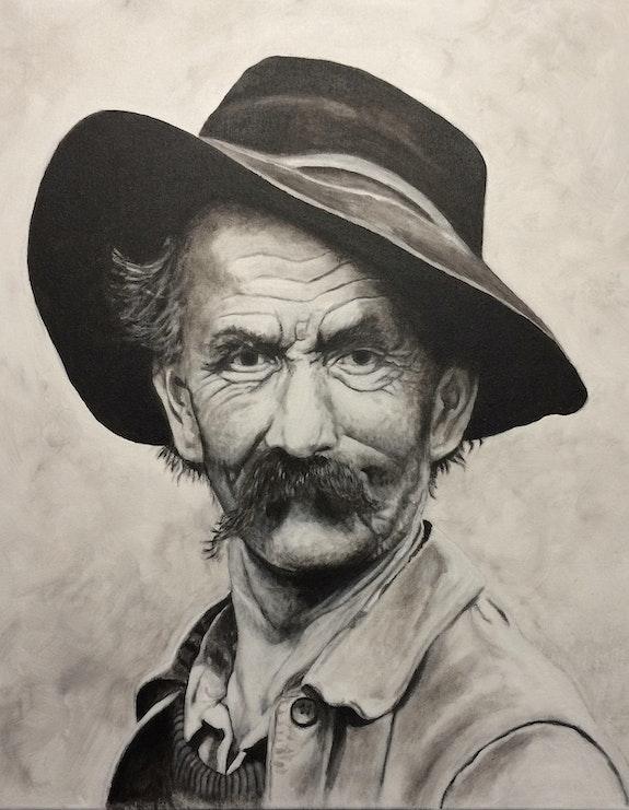 Le vieux berger.  Philippe Eberle