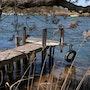 L'embarcadère sur les bords de l'Hérault. Créartiss/créactif