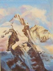 Montagne au couchant.