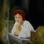 Joven en el balcon, recreacion de mujeres de grandes pintores. Vidaurre