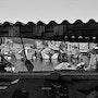 Sète, le port de pêche dans les cabanes. Créartiss/créactif