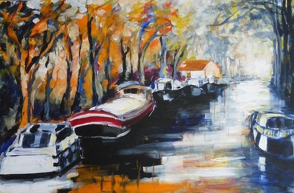 Escale le long du canal du midi.  Marie Ferrand
