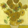 Sunflowers in a vase. Vincent Van Gogh