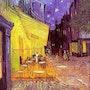 The Café Terrace on the Place du Forum, Arles, at Night. Vincent Van Gogh