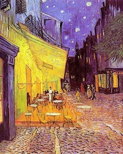 The Café Terrace on the Place du Forum, Arles, at Night.