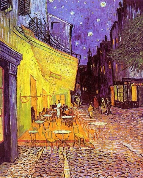 Terrasse du café le soir.  Vincent Van Gogh