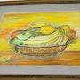 Nature morte, panier de fruits, 1993. Yvon Couchouron