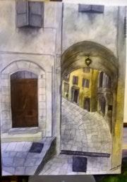 Rue de vieille ville provençale.