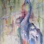 Cygne noir 8 venu d'australie exposer au temple de Chauray (Deux sèvres 79). Brigitte Boulic-Wanneau-Bwb-Briwa