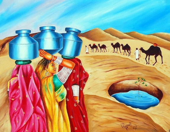 Colour of oasis. Ragunath Ragunath
