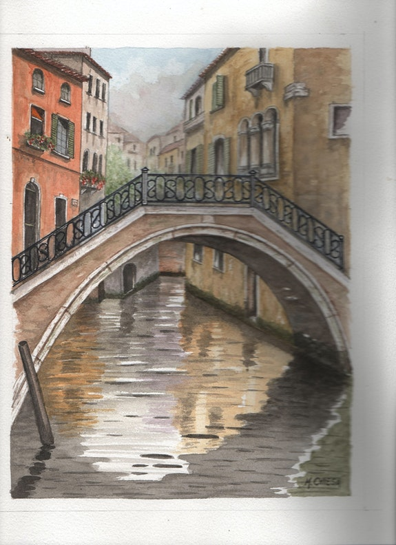 Pont sur canal venise. Maurice. Chiesa Maurice Chiesa