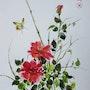 Roses et papillon. Abby