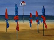 Parasols de Deauville.