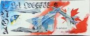 Mirage 2000c f15 f16 & f18. Forangeart F. Baldinotti Peintre De l'air