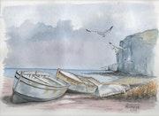 Barques et falaises.