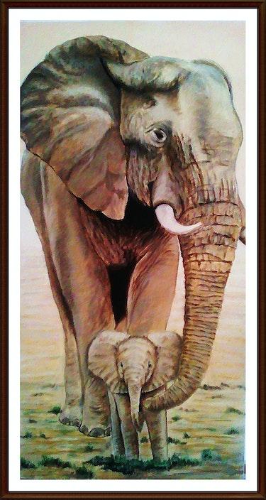 Elephants. Stephane Chretien