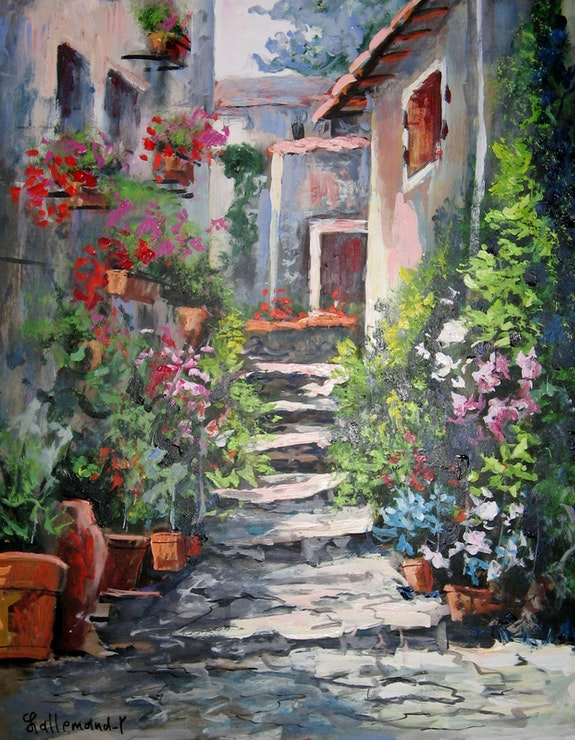 Ruelle provencale. Lallemand Yves Yves Lallemand