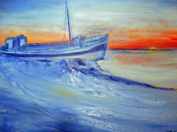 Le bateau échoué sur un banc de sable. Pat Castillejos Pat