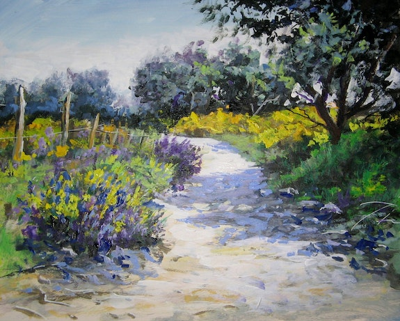 Chemin provencal luberon. Lallemand Yves Yves Lallemand
