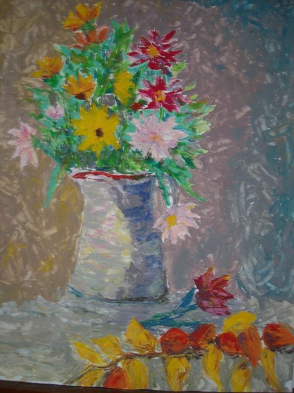 Le bouquet. Emgé Micheline Moine