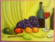 Fruit with yellow background. Paul Smith