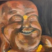 Portrait bouddha rieur.