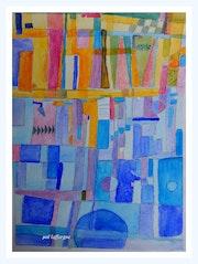 Soleil bleu en hommage à P. Klee. Maï Laffargue